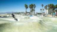 Skateboarding at Venice Beach - Time Lapse video