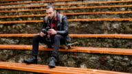 skateborder enjoing music video