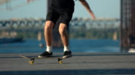 Skater doing trick in slow-mo. video