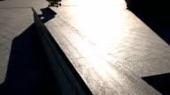Skater fails a trick. video