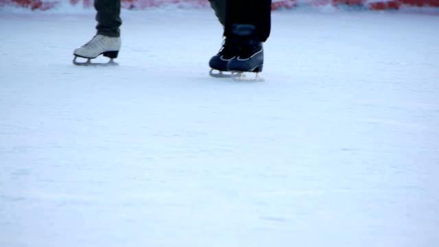 HD - Skating. Skates close-up video