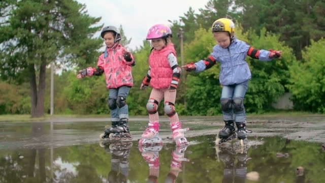 Skating Through Puddles video