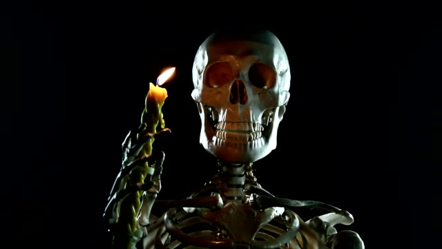 Skeletal with a candle video