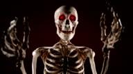 Skeleton scares video