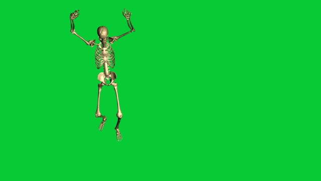 skeleton surrender  - separate on green screen video
