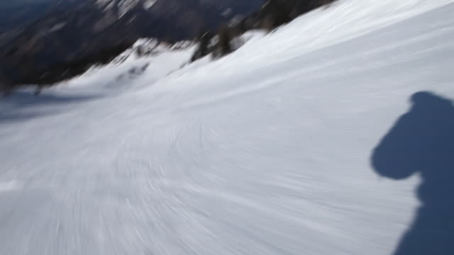 HD: Ski downhill on skis video