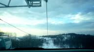 Ski gondola. Time lapse. video