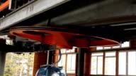 Ski lift cabins (HD) video