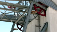 Ski lift cable wheels spin video