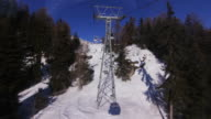 Ski lift in the mountains video