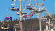 Ski lift with people video