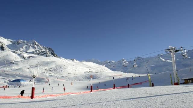 Ski Piste with a ski lift video