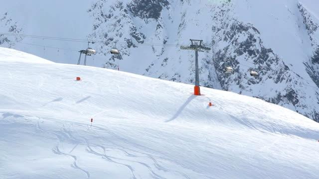 Ski run and gondola in Austrian Alps video