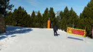 Ski slope signe. video