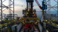 skidding oil rig operation time lapse video
