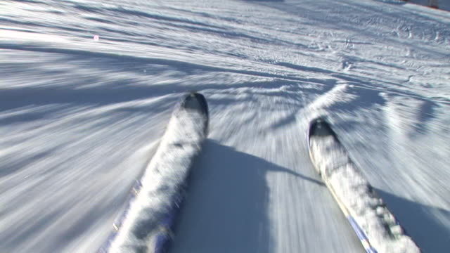 HD: Skiing downhill video