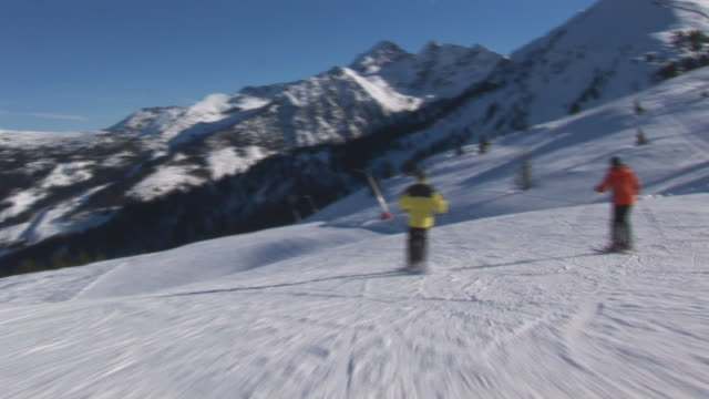 skiing on empty slope video