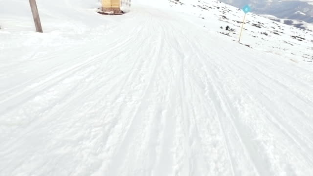 Skiing. Pov. video