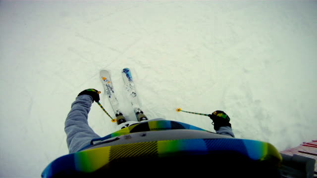 Skiing with GoPro video
