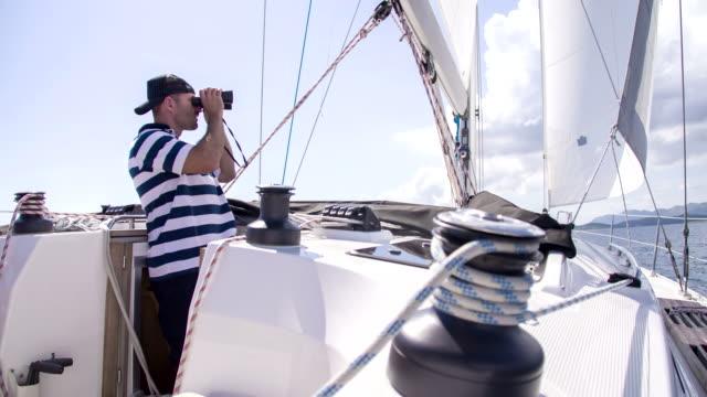 MS Skipper Looking Through Binoculars video