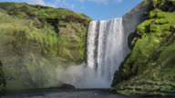 Skogafoss Falls in Iceland video