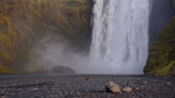 SLO MO DS Skogafoss waterfall in Iceland video