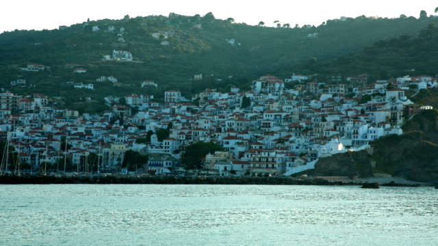 HD: Skopelos town, Skopelos island, Greece video
