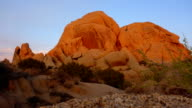 Skull Rock sunset time lapse in Joshua Tree National Park video