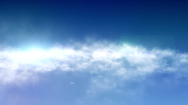 Sky And Clouds Background Animation With Lens Flare Effects video