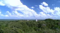 Sky and clouds over the pyramids of Tikal-timelapse video