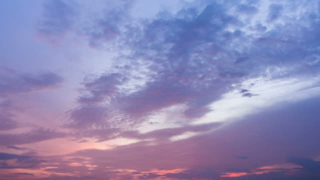 Sky at twilight video