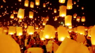 Sky Lantern Traditional Festival video