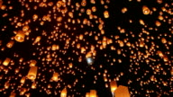 Sky Lanterns From Yee Peng Festival in Chiang Mai Thailand video