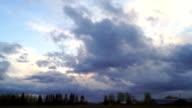 Sky nature rain clouds video