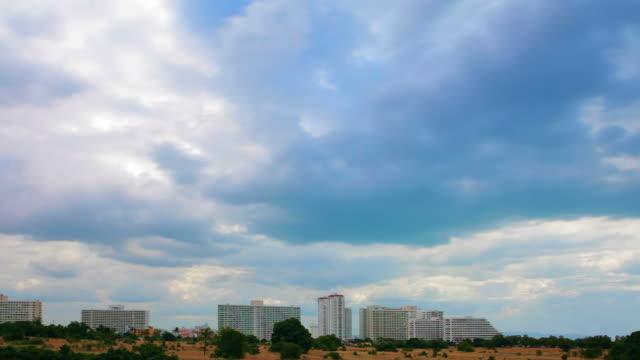 Sky over city video