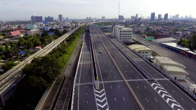 Sky Train and Transportation Bridge cross River video
