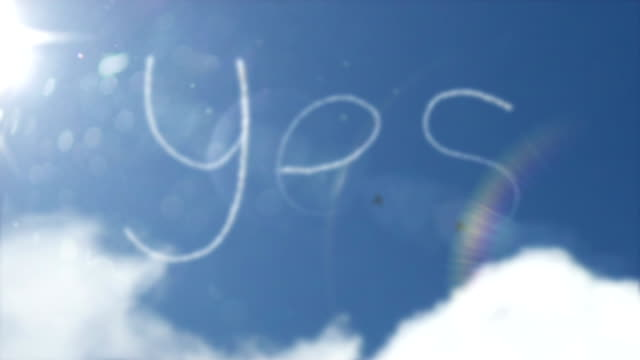 Sky Writing Smoke Trail - Yes (Full HD) video