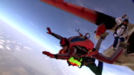 Skydiving video slow motion. video