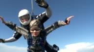 Skydiving video. Tandem. video