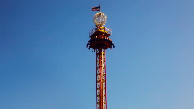 Skydrop Ride at Carnival Midway video