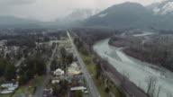 Skykomish River Washington Mt Index USA Aerial video