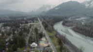 Skykomish Washington USA Aerial video