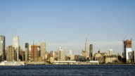 NYC skyline day to night time-lapse video