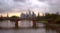 Skyline Frankfurt by sunset video