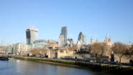 Skyline London in the morning video