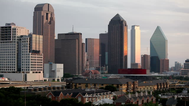 Skyline of downtown Dallas, Texas video