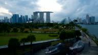 Skyline of Marina Bay, Singapore video