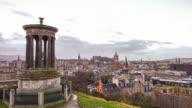 Skyline of the city of Edinburgh video