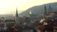 Skyline Prague with sun video