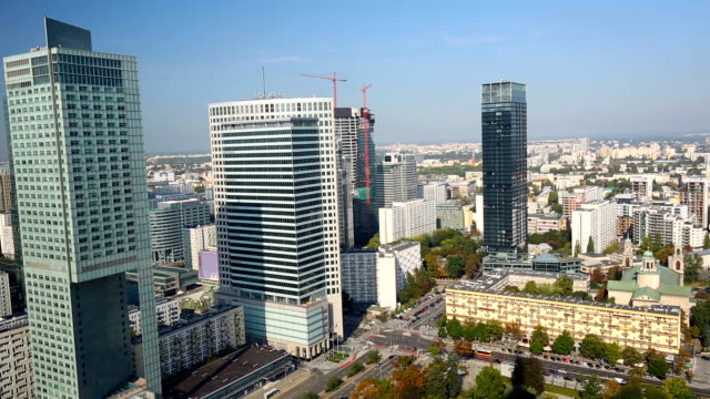 Skyline Warsaw, time lapse video